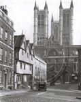Picture of Lincoln - A charming street in Lincoln c1930s - N043
