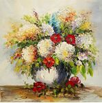 Picture of Flowers - Bunches - Multi-Flowers Bunch - O017