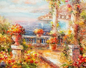 Picture of Seaside - Mediterranean Balcony View - O049