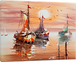 Picture of Seascapes - Fishing Boats - O079