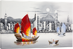 Picture of Landscapes - Hong Kong Harbour - O028